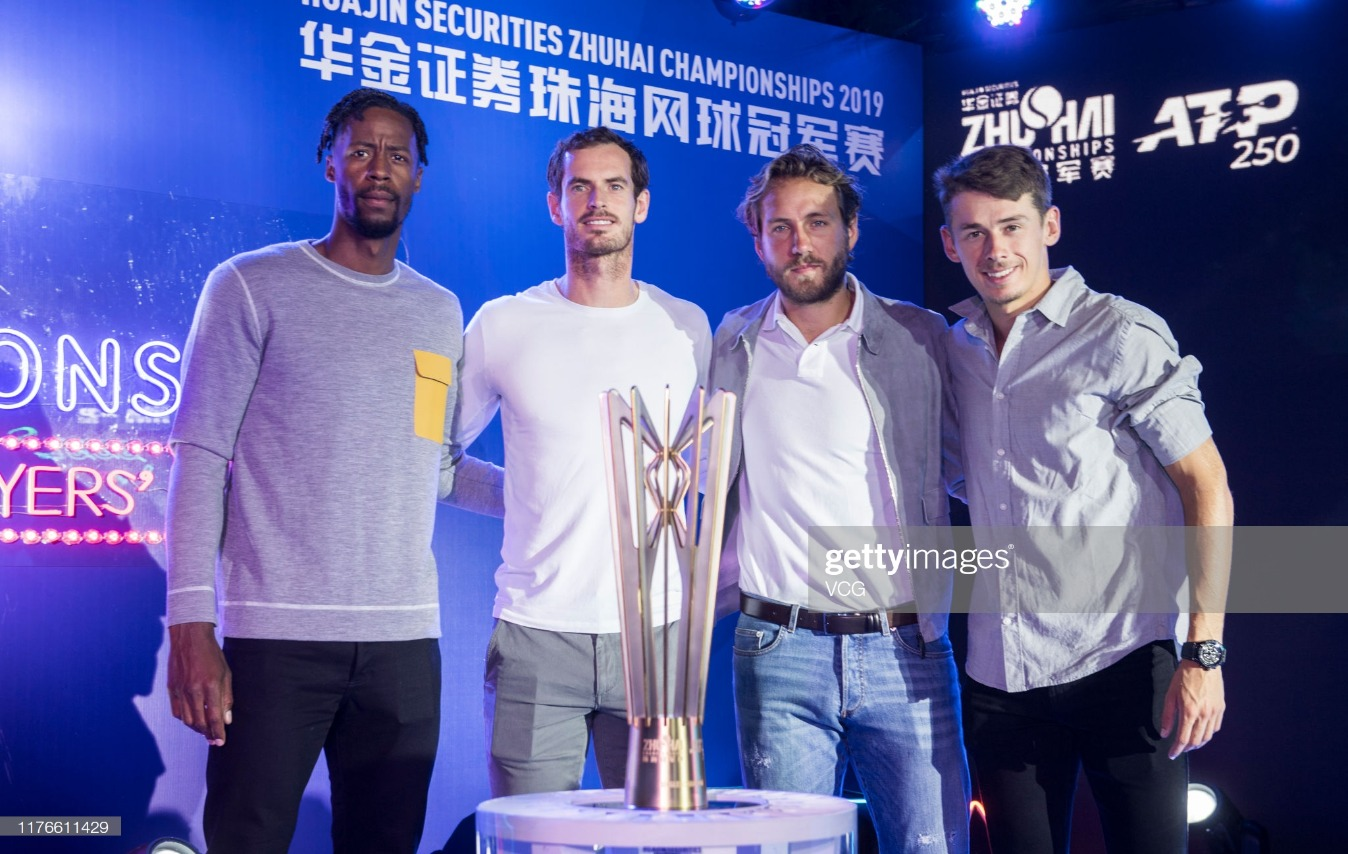2019 ATP World Tour 250 Zhuhai Championships - Day 1 : News Photo