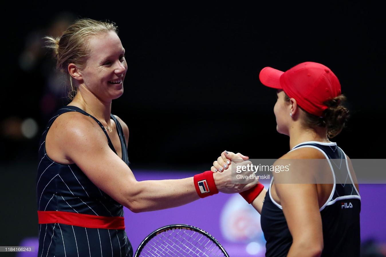 2019 WTA Finals - Day Three : News Photo