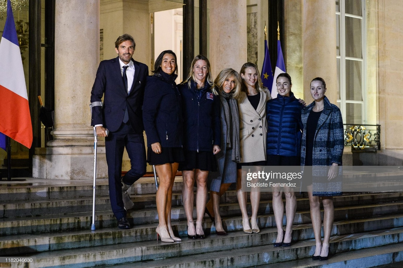 French Womens Tennis Team - Elysee Palce : News Photo