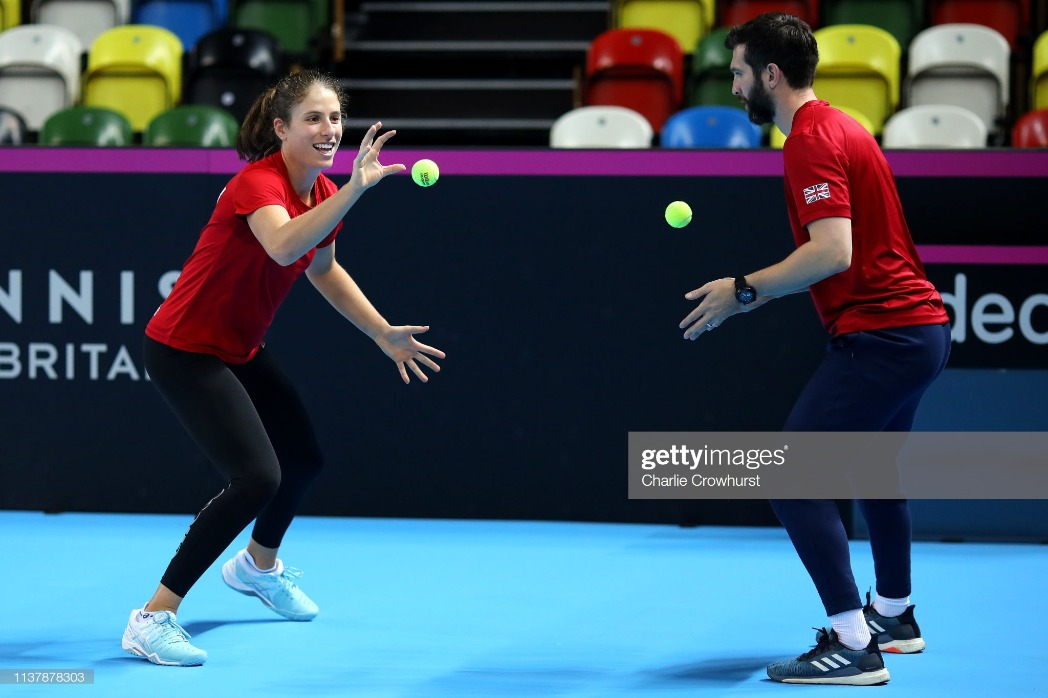 Great Britain v Kazakhstan - Fed Cup: Preview Day 3 : News Photo