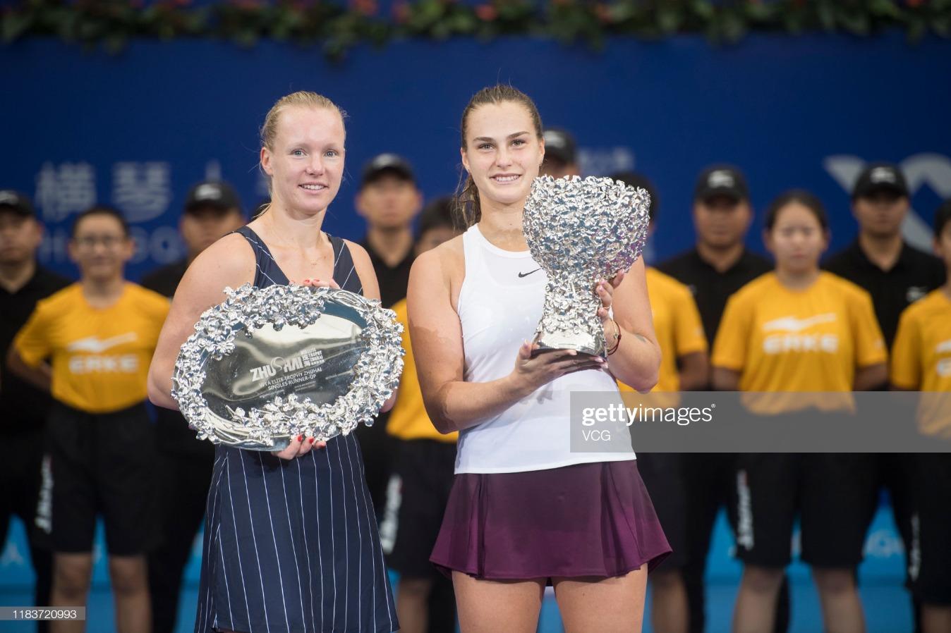 2019 WTA Elite Trophy Zhuhai - Day 6 : News Photo