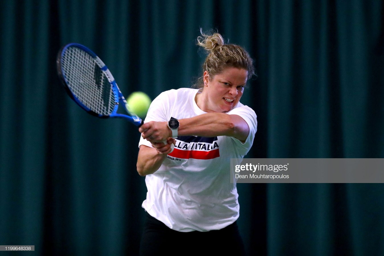 Kim Clijsters Media Day : News Photo