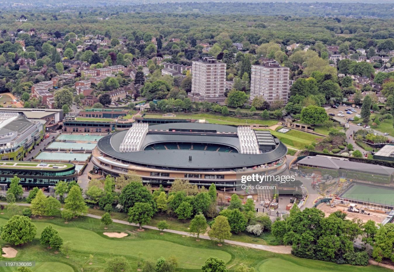 Wimbledon seen from the air : News Photo