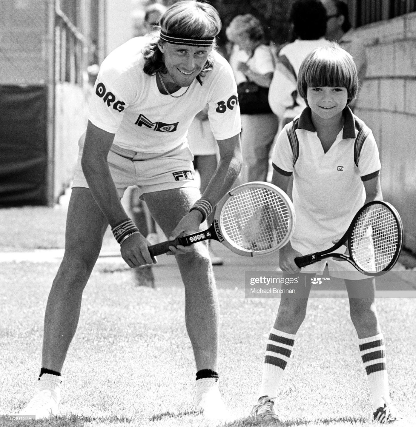 Borg And Young Agassi : News Photo