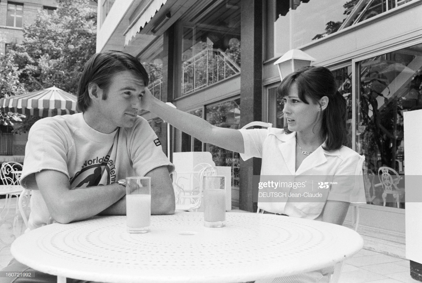 Jimmy Connors And His Wife Patty In Paris : News Photo