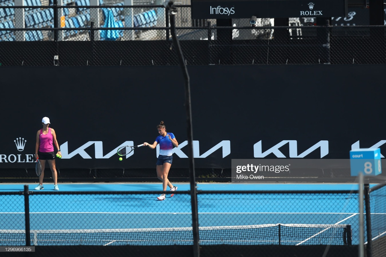 Preparations In Melbourne Continue Ahead of Australian Open and Lead Up Tournaments : News Photo