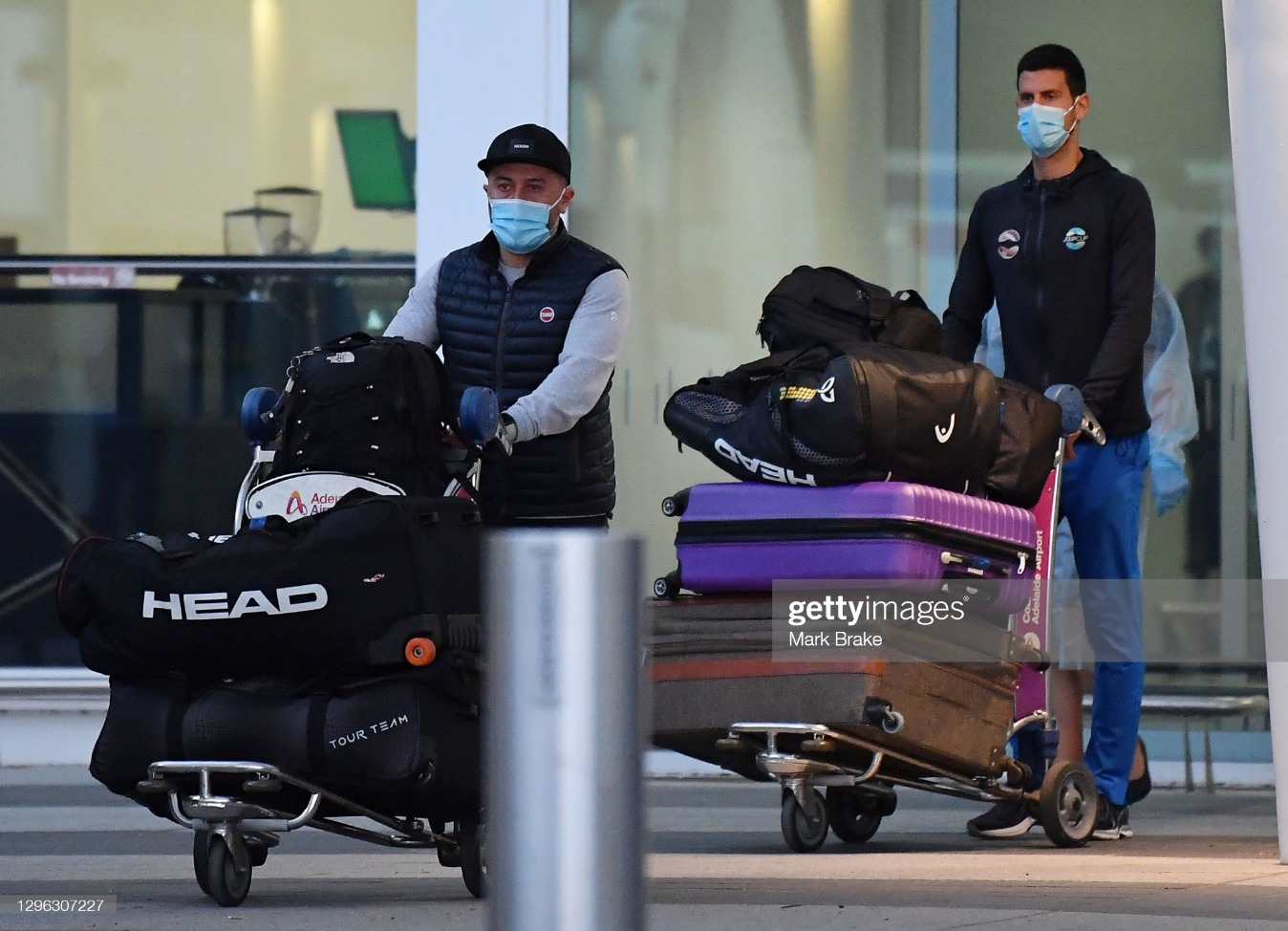 Tennis Players And Officials Arrive In Adelaide Ahead Of 2021 Australian Open : News Photo