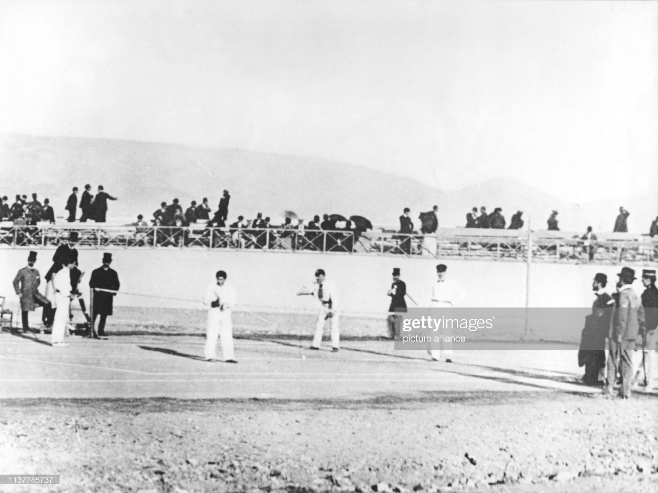 1896 Olympic Tennis Final : News Photo