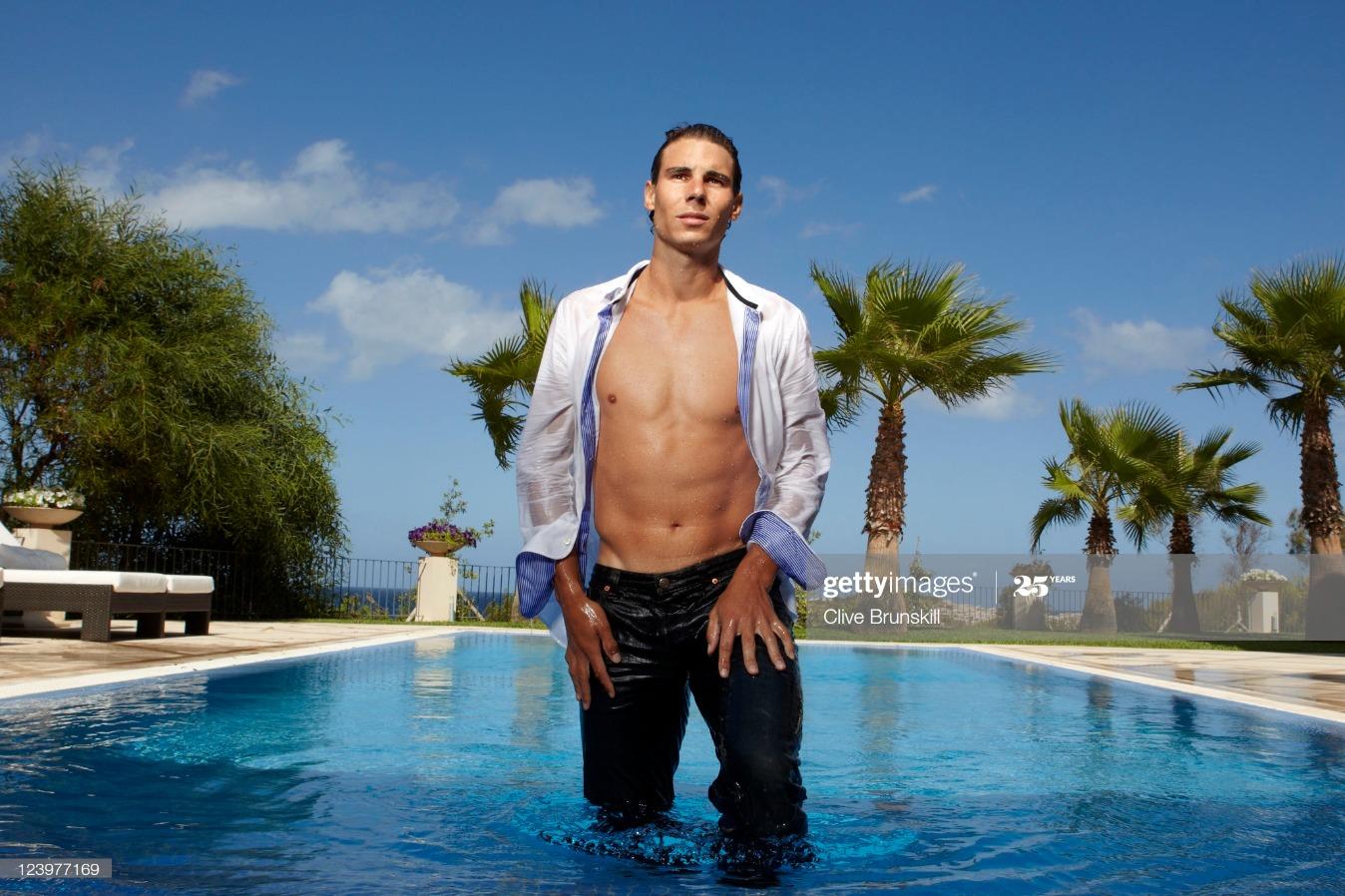 Rafael Nadal, Self assignment, July 19, 2011 : News Photo