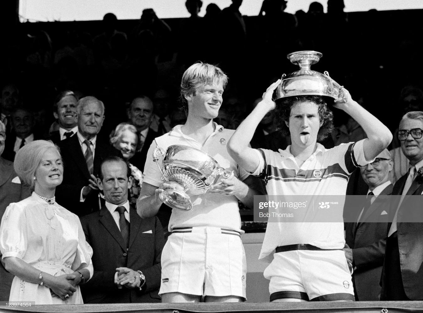 John McEnroe And Peter Fleming - Doubles Champions At Wimbledon : News Photo