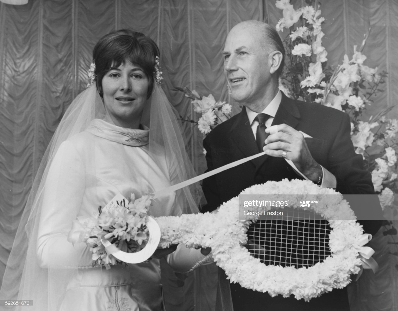 Christine Truman And Teddy Tinling : News Photo