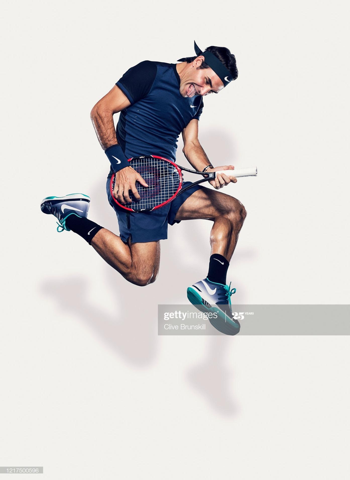 Roger Federer, Portrait shoot, March 12, 2015 : News Photo