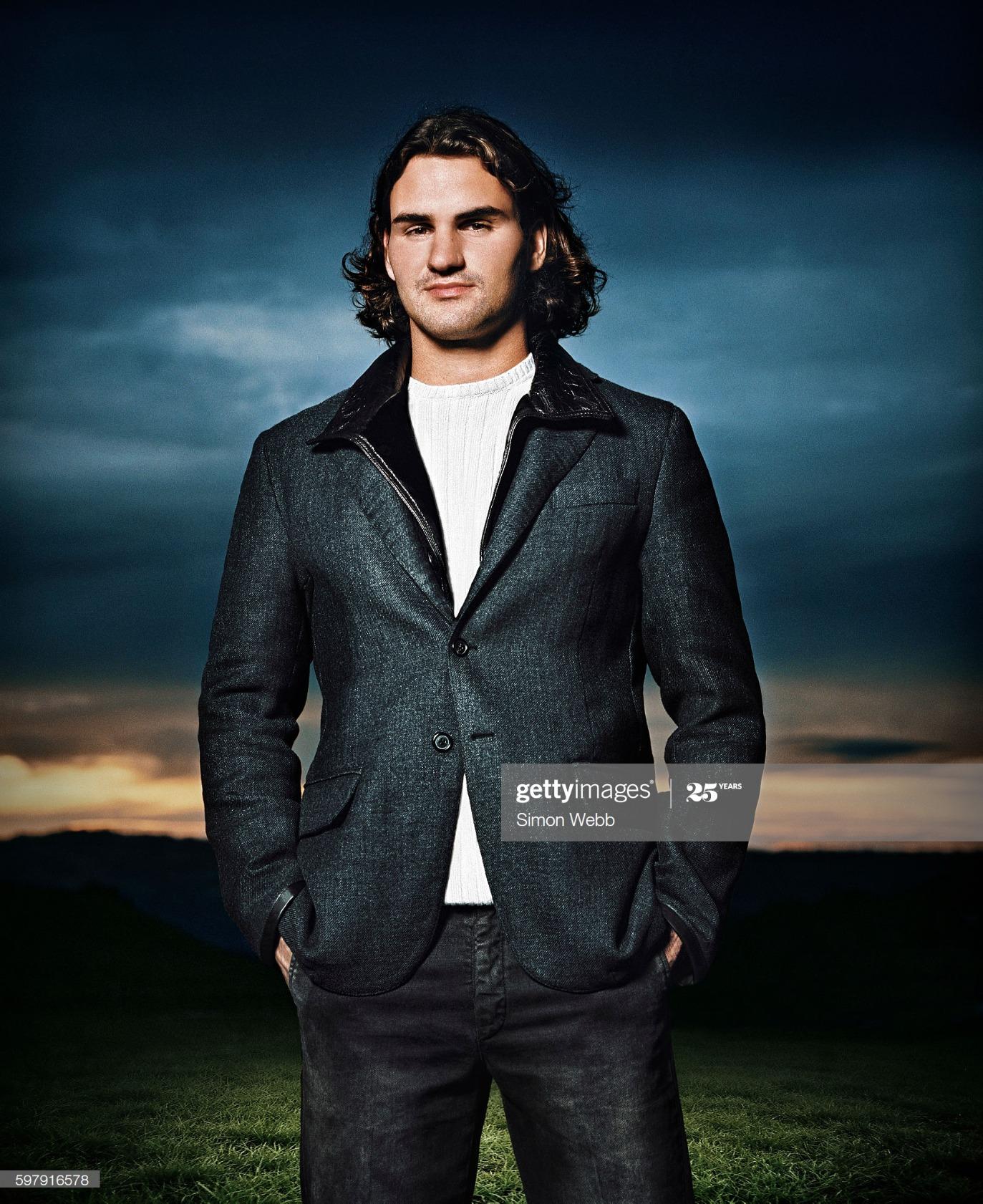 Roger Federer, Portrait shoot, September 14, 2005 : News Photo