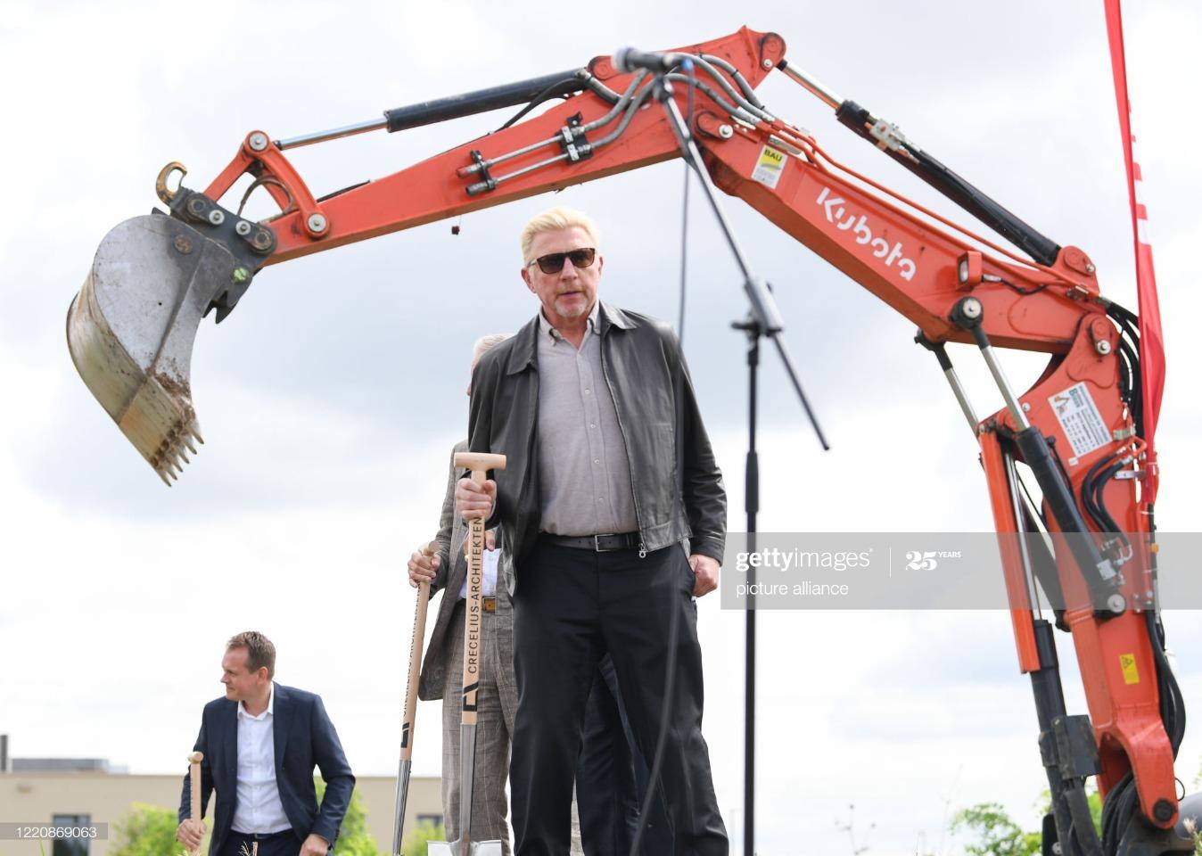 Ground-breaking ceremony Boris Becker International Tennis Academy : News Photo