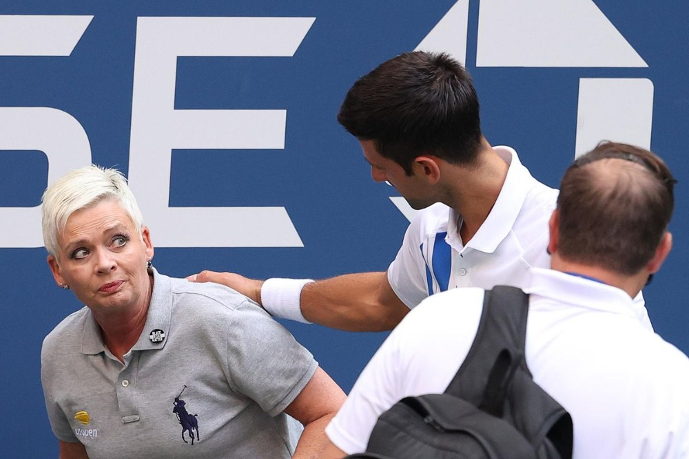 World No. 1 Novak Djokovic Defaulted From U.S. Open After Hitting Line Judge  With Ball