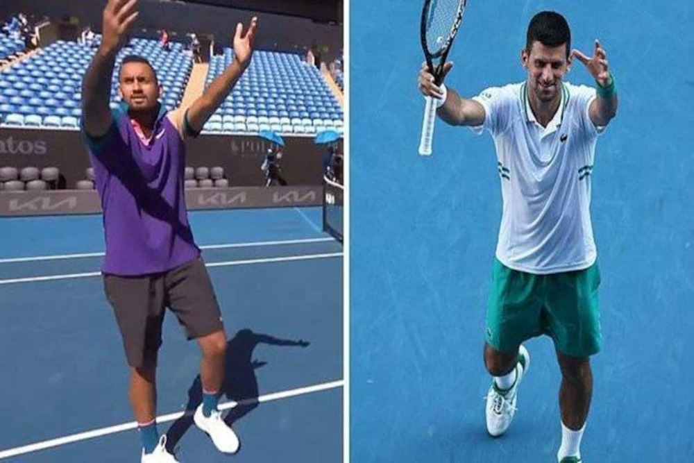 Image result for kyrgios and djokovic